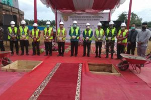 Ketua PA Sei Rampah Hadiri Peletakan Batu Pertama Pembangunan Gedung Pengadilan Negeri Sei Rampah