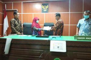 Opening Meeting Tim asesor Eksternal PTA Medan dengan seluruh pegawai PA Sei Rampah di ruang sidang
