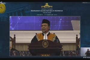 Ketua PA Sei Rampah Hadiri Sidang Pleno Istimewa Laporan Tahunan Tahun 2020 MA Secara Virtual